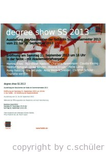 degree show ss 2013
